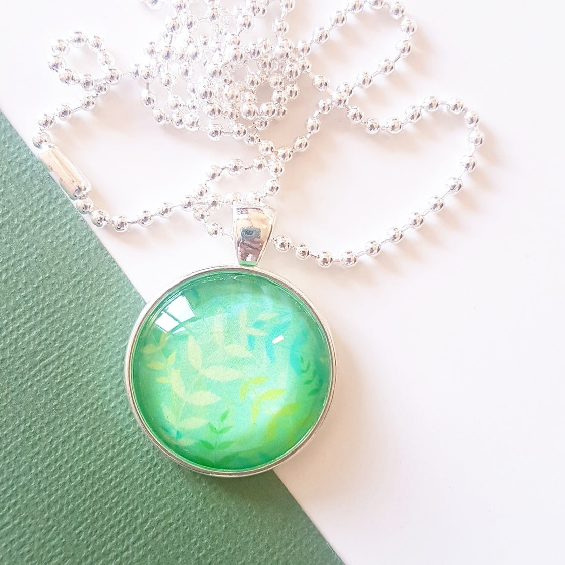 Image of 1inch pendant - Misty Leaves
