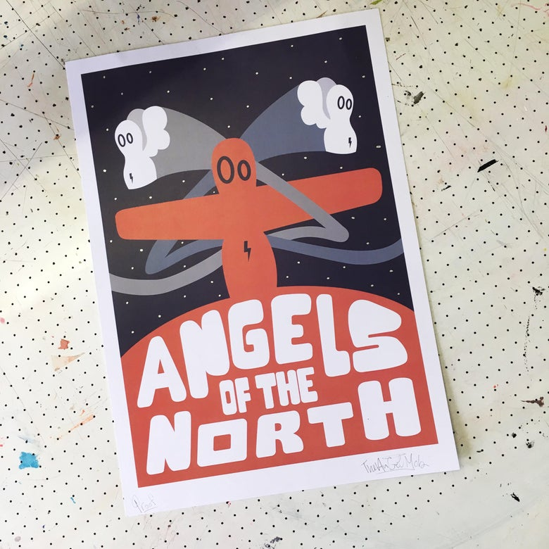 Image of Angels of the North (Sunset)