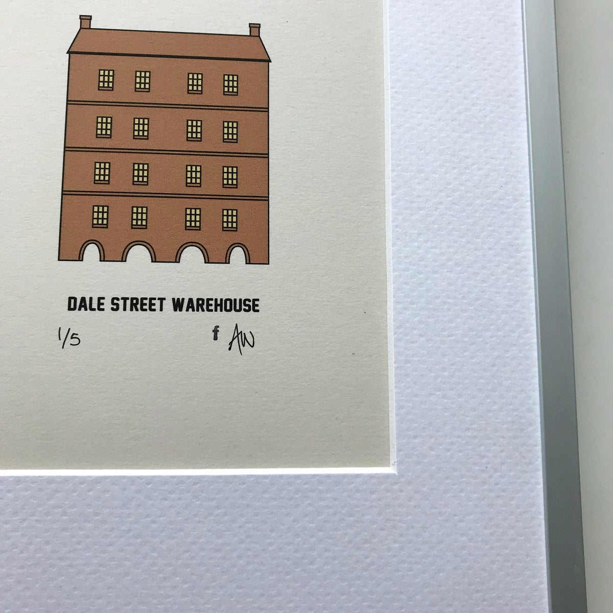 Image of DALE STREET WAREHOUSE MANCHESTER FRAMED PRINT by fingsMCR