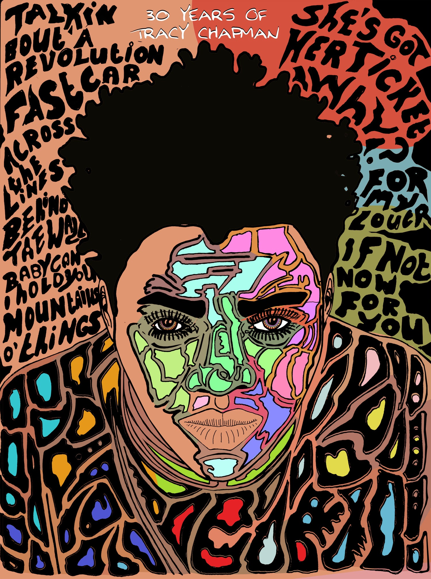 Image of Tracy Chapman 30th anniversary piece