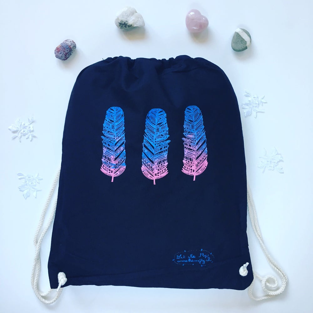 Image of Gym Bag *feathers* dégradé