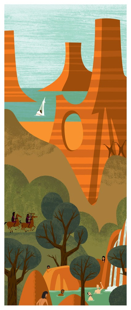 "Image of ""In Six Months We'll be Running This Planet"" (O) Unframed <br>Planet of the Apes <br>LE Giclee Print"