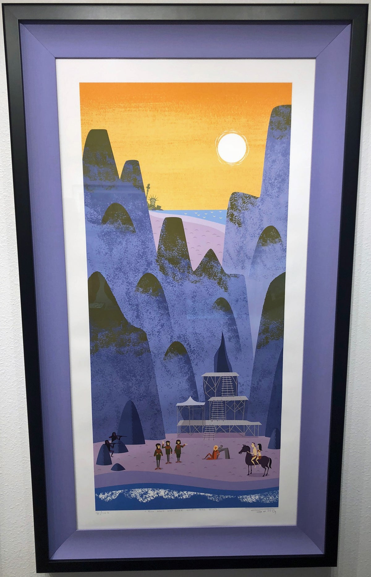 "Image of ""You May Not Like What You Find"" (P) Unframed <br>Planet of the Apes <br>LE Giclee Print"