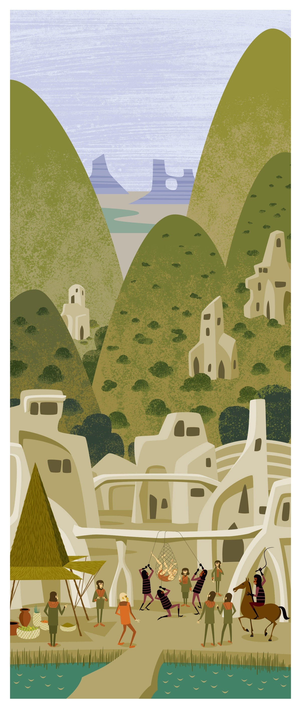 """Image of Save! Set of All 3 <br>""""Planet of the Apes"""" Unframed <br>Limited Edition Giclee Prints"""