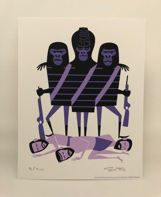 """Image of """"Three Gorillas"""" <br>L.E. Print & T-Shirt Combo <br>Limited Edition <br>Various T-Shirt Sizes"""