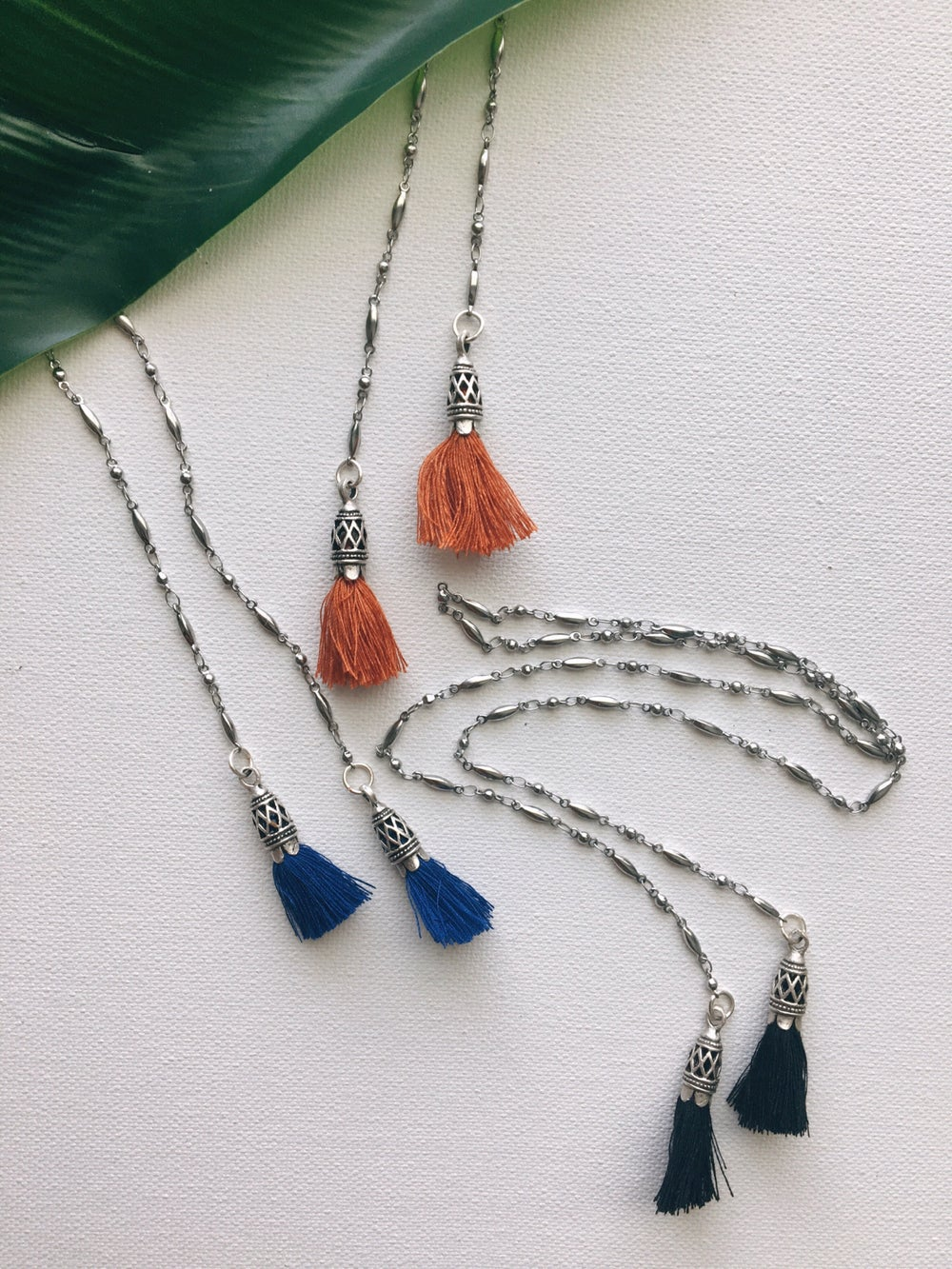 Image of D.Y.S.O. Silver Tassel Necklace