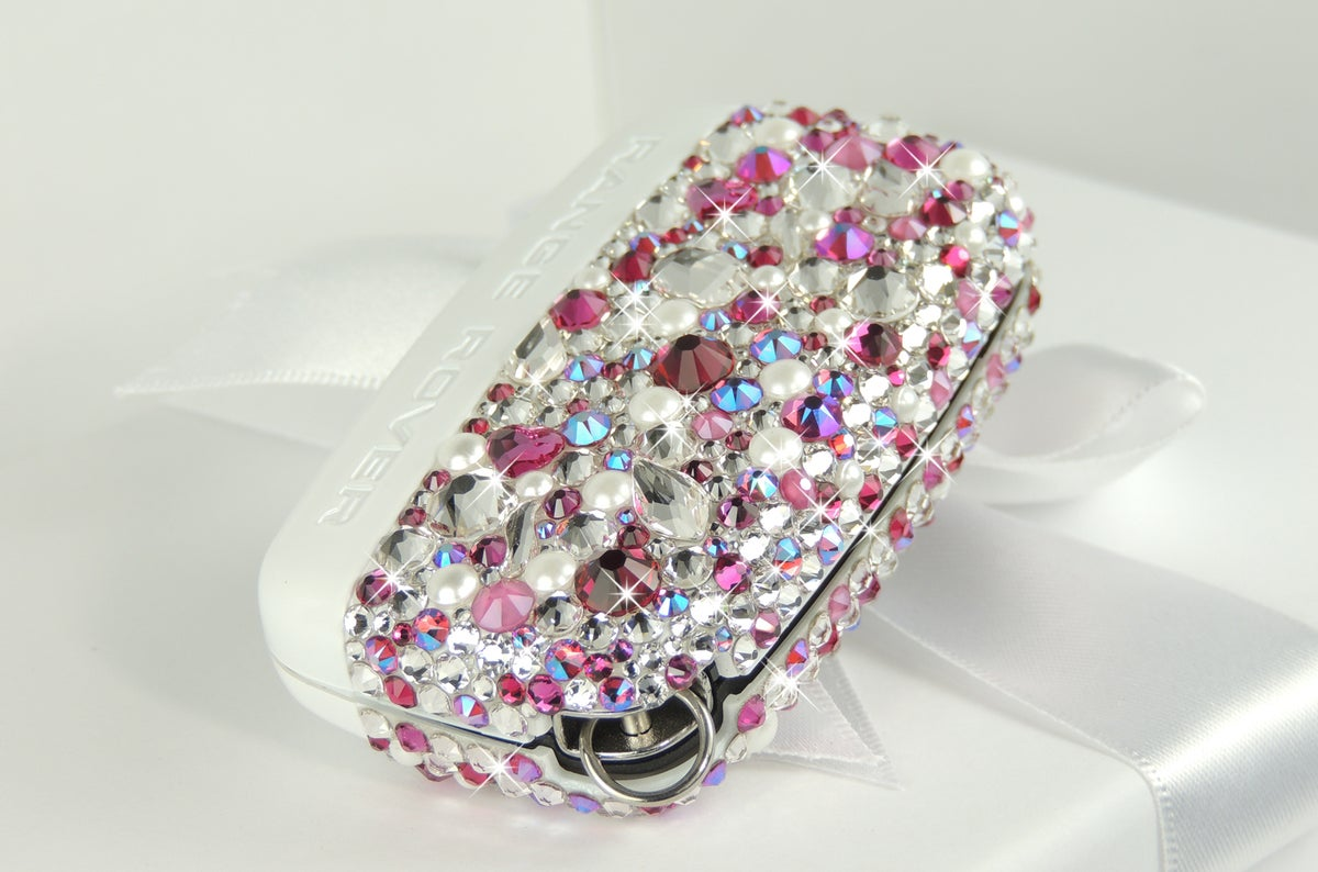 Image of Pink Diamonds & Pearls Range Rover Key Cover with Crystals by Swarovski®