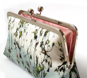 Image of Loch leaf clutch bag