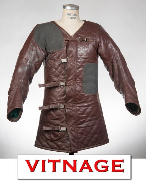 Image of 1960'S Vintage 10X Custom Made Leather Marksmen Competition Jacket Coat Riffle Target Size Mens 38