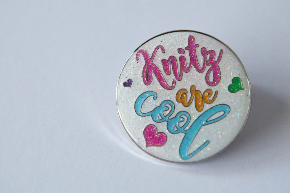 Image of ChileKnitz Enamel Pin - Knitz are Cool