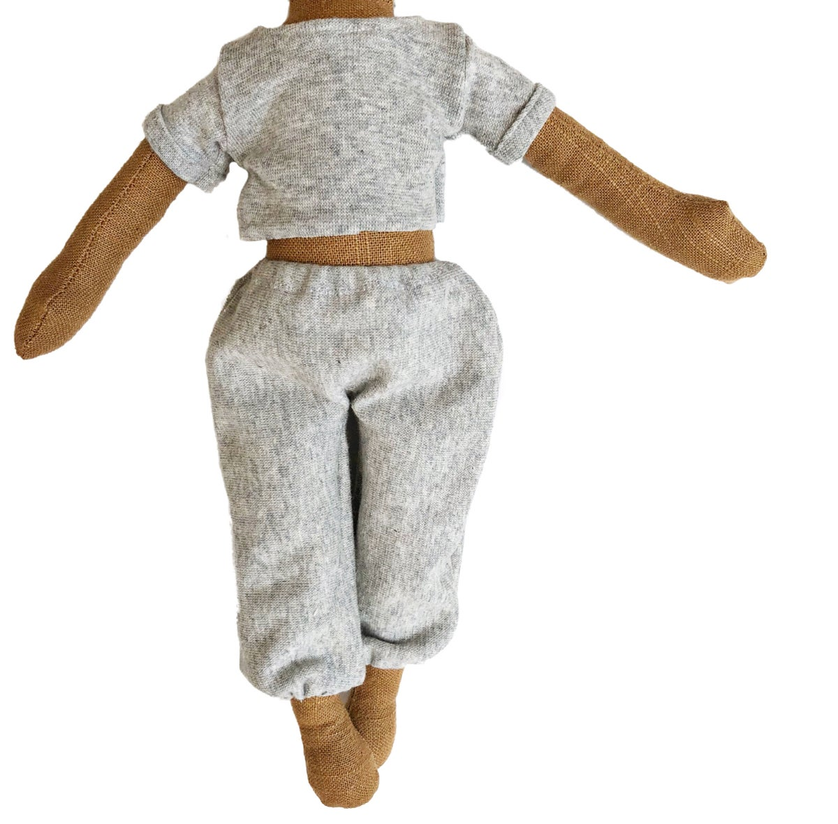Grey sweats cut off set - Doll Accessory (PLEASE NOTE: THIS ORDER WILL SHIP ON OR BEFORE NOV 30TH)