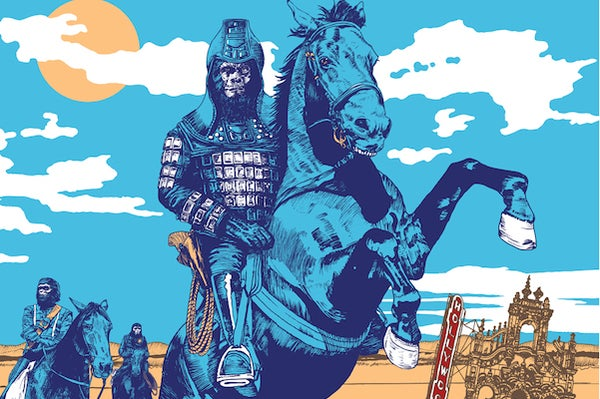 Image of Marathon of the Apes Screen Printed Poster