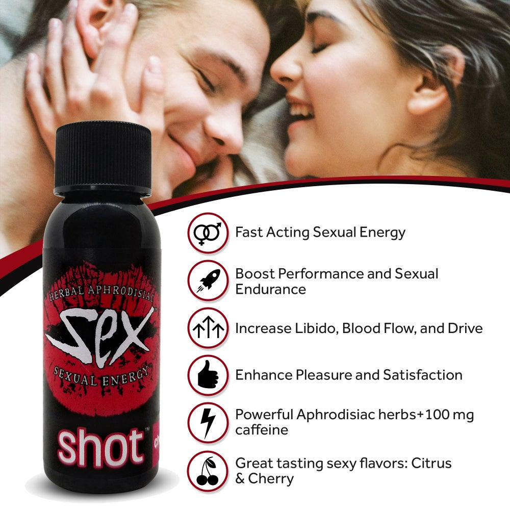 Image of Sexual Energy Herbal Aphrodisiac Liquid Shot, 6 pcs.