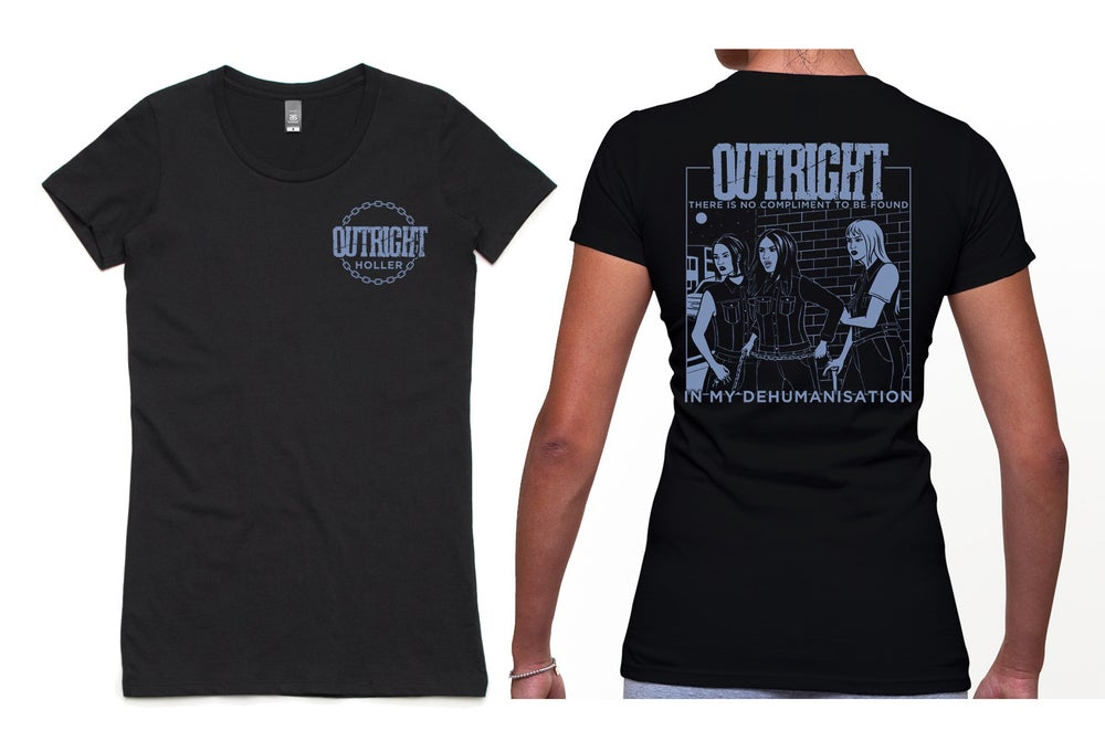 """Image of OUTRIGHT """"HOLLER"""" Women's Tee"""
