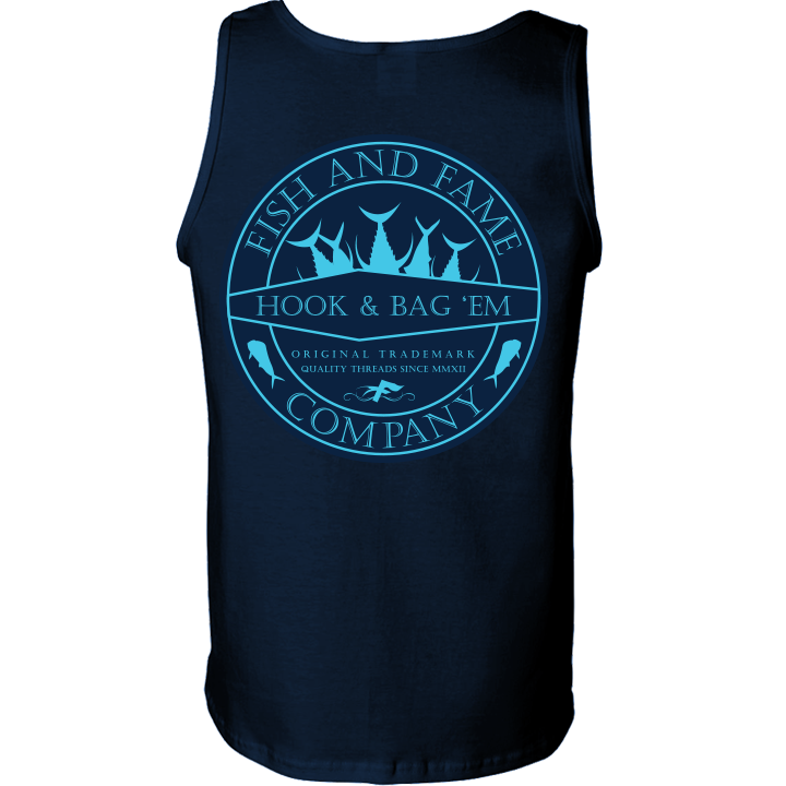 Image of Hook & Bag Em' Tank Top (navy)