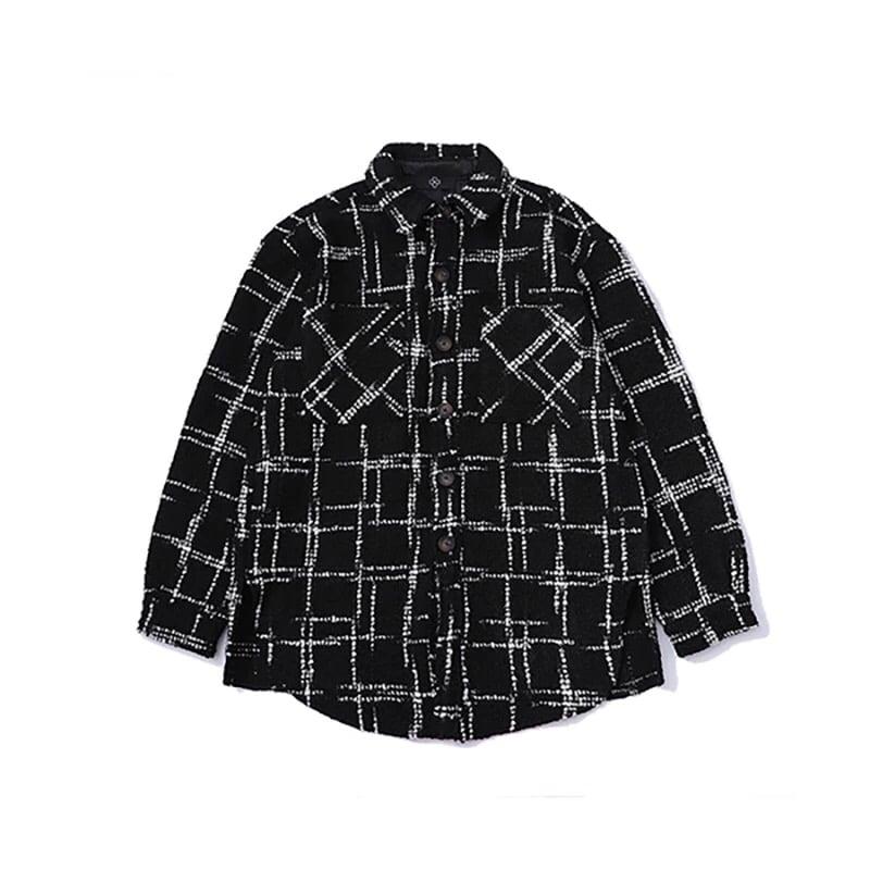 Image of Fleece Checkered Jacket