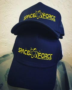 Image of Space Force snap back trucker