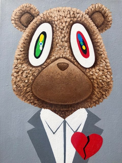 Image of Heartbreak - Kanye Bear Canvas Print