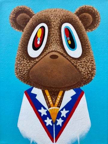 Image of Touch the Sky - Kanye Bear Canvas Print