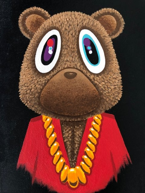 Image of MBDTF - Kanye Bear Canvas Print
