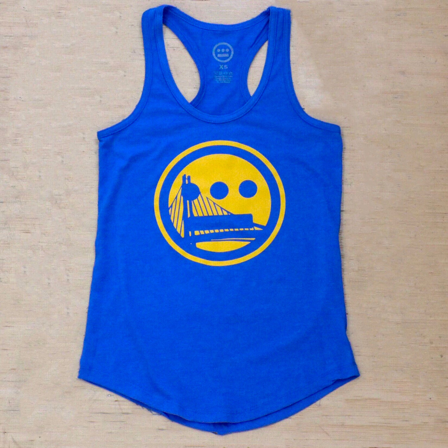 Image of Hieroglyphics Champion Series Women's Racer Back, Royal/ Gold