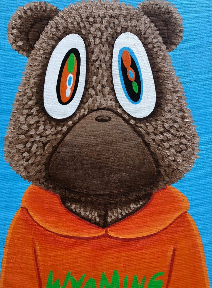 Image of YE - Kanye Bear Canvas Print