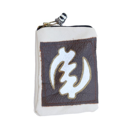 Image of Cream Leather Pouch