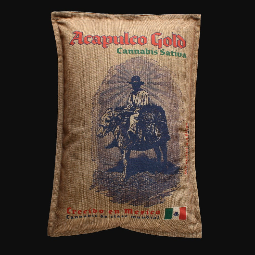 Image of  Acapulco Gold Cannabis sack queen pillowcase