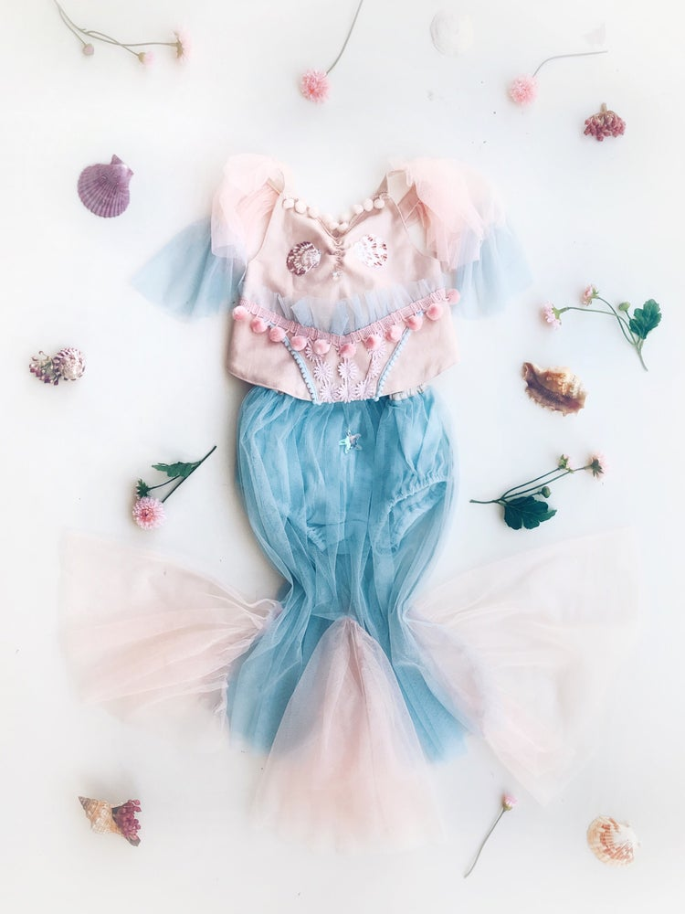 Image of mermaid crop  |  pink