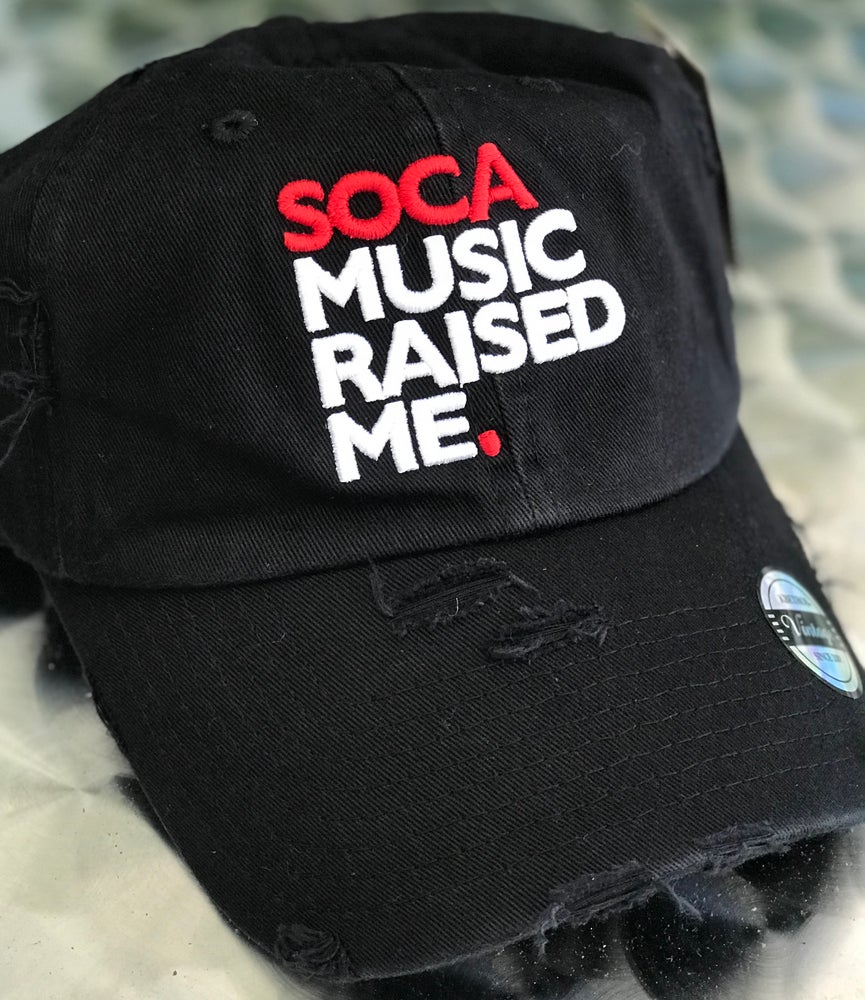 Image of Soca Music Raised Me - Ripped Daddy Hat (Various Colors)