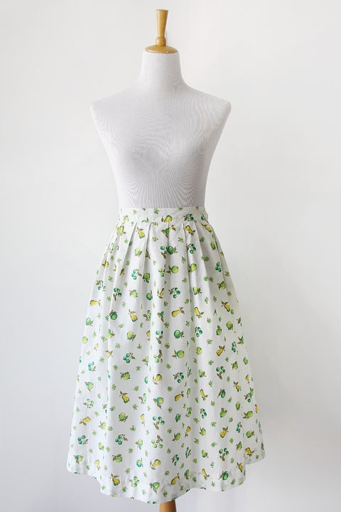 Image of SOLD Fruit Salad Novelty Print Cotton Vintage Skirt