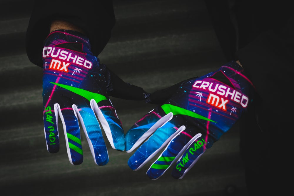 Image of Retro Crushed MX Gloves