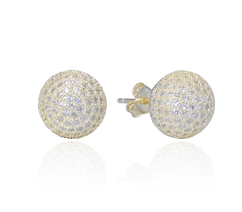Image of Diamond Ball Studs