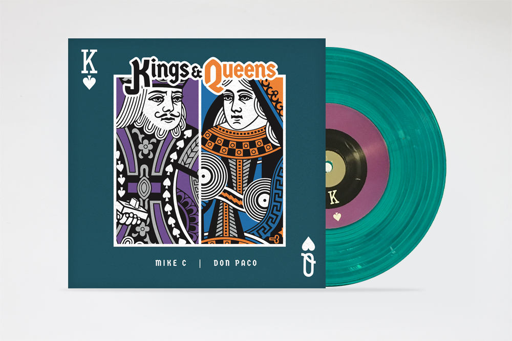 """Image of KINGS & QUEENS 7"""" by MIKE C & DONPACO"""