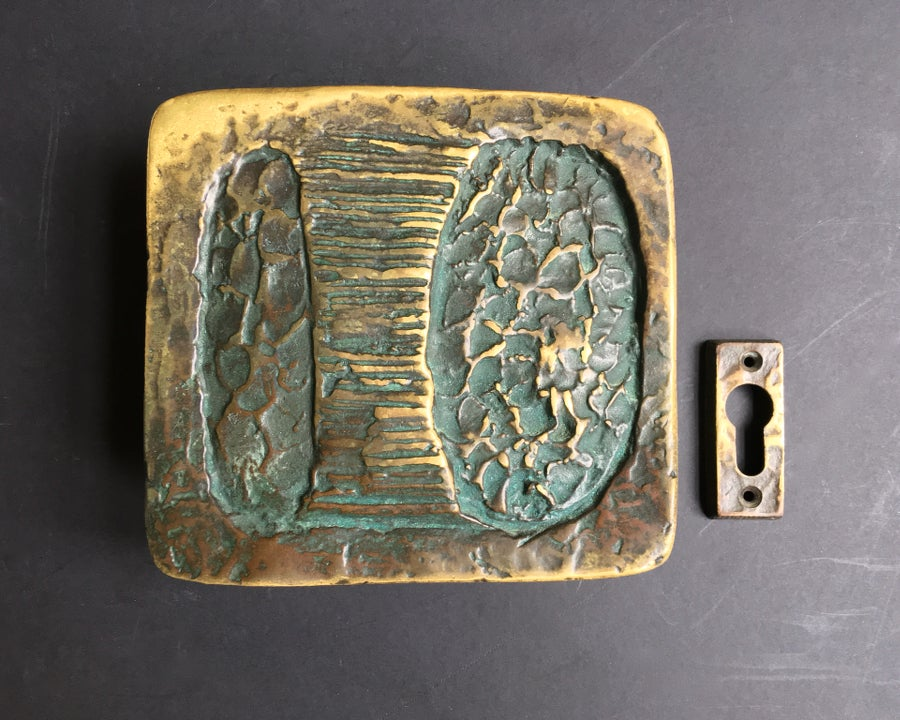 Image of Sculptural Art Door Handle & Keyhole Plate