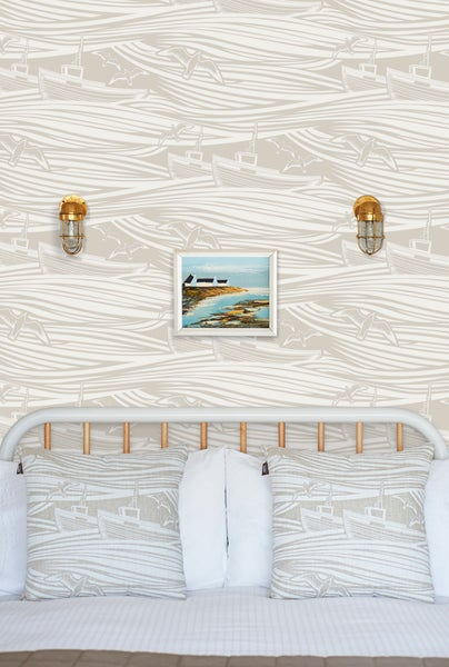Image of Whitby Wallpaper - Stone