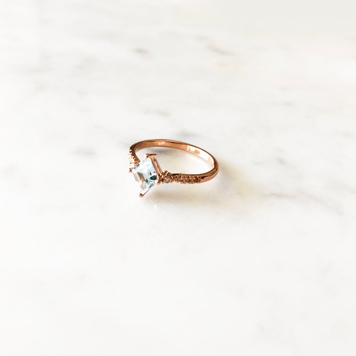 Image of Winter Forest Blue Topaz Ring