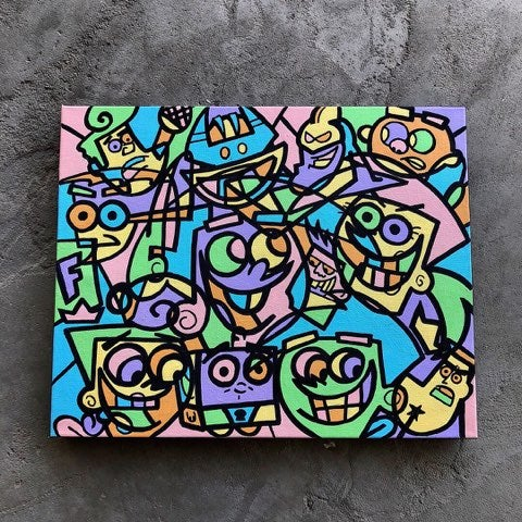 "Image of ""TIMMY TURNER"" 16""x20"" ORIGINAL CANVAS"