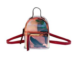 Image of Mini Hologram Transparent Backpack 🎒