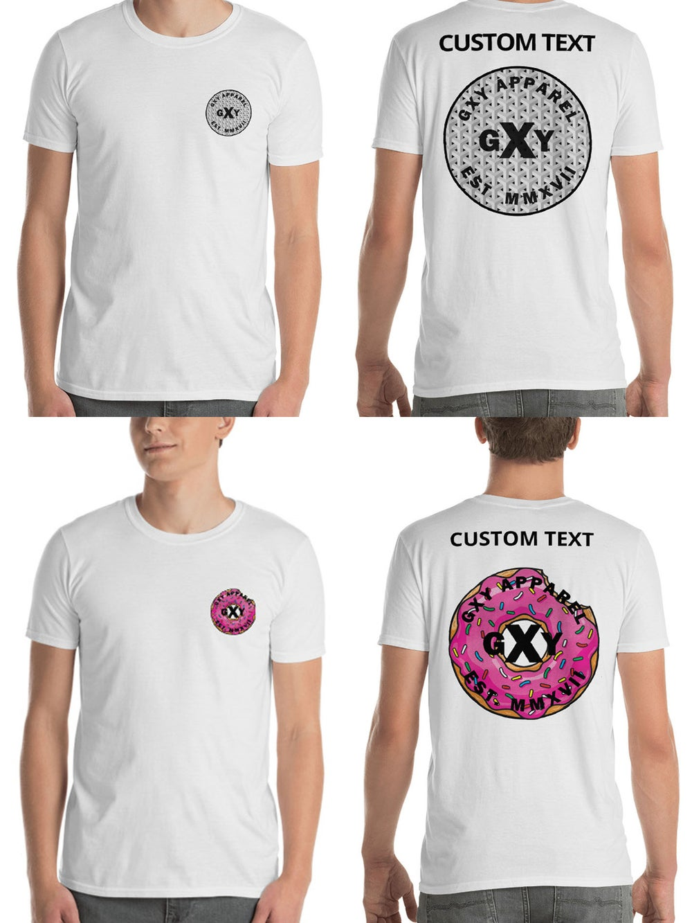 Image of GXY Lucky Doughnut Tee and Illusion Tee(Personalisation Available)