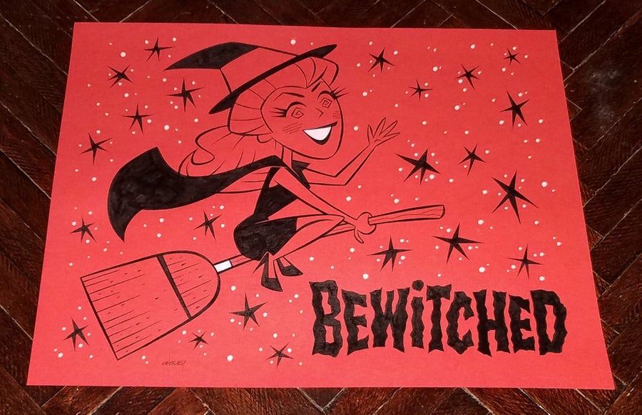 Image of BEWITCHED 11x14 ORIGINAL ART - SAMANTHA