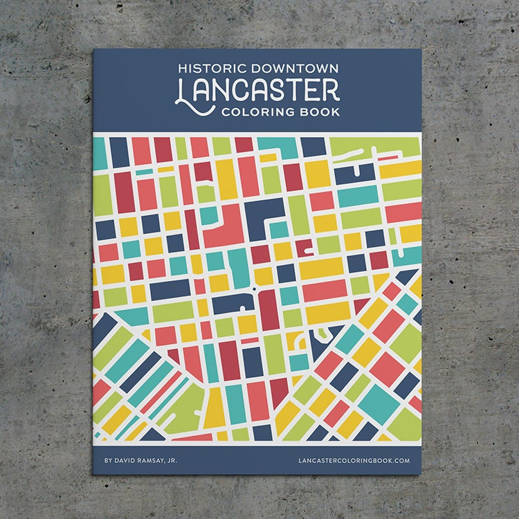Image of Historic Downtown Lancaster Coloring Book - Vol. 1