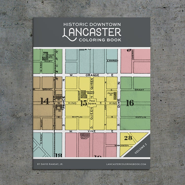 Image of Historic Downtown Lancaster Coloring Book - Vol. 2