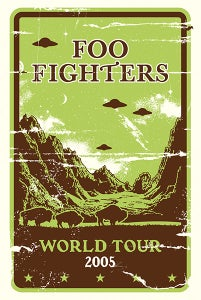 Image of Foo Fighters 2005 World Tour Subway Size Poster