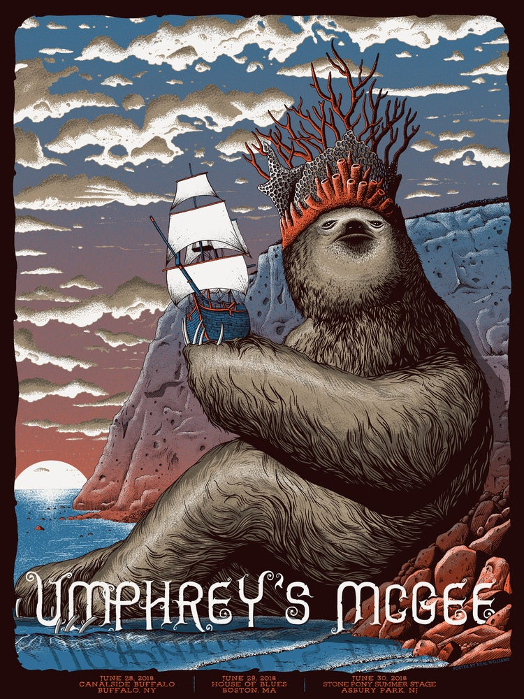 Image of Umphrey's McGee in NY, MA and NJ 2018 Poster