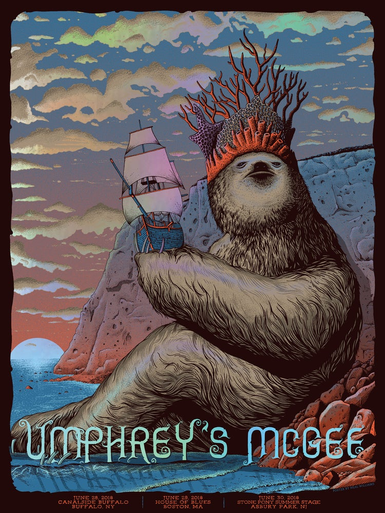 Image of Umphrey's McGee in NY, MA and NJ 2018 Poster - Foil Variant