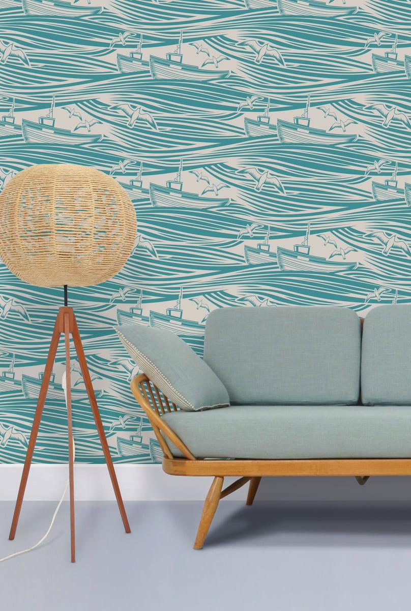 Mini Moderns — Whitby Wallpaper - Lido