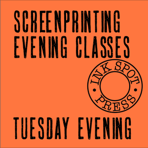 Image of Tuesday evening silkscreen class: (six weeks) 1st Oct.- 5th Nov. 2019. 6.30 - 9.30pm. £220.00