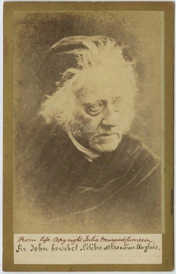Image of Julia Margaret Cameron: CdV of Sir John Herschel, ca. 1867