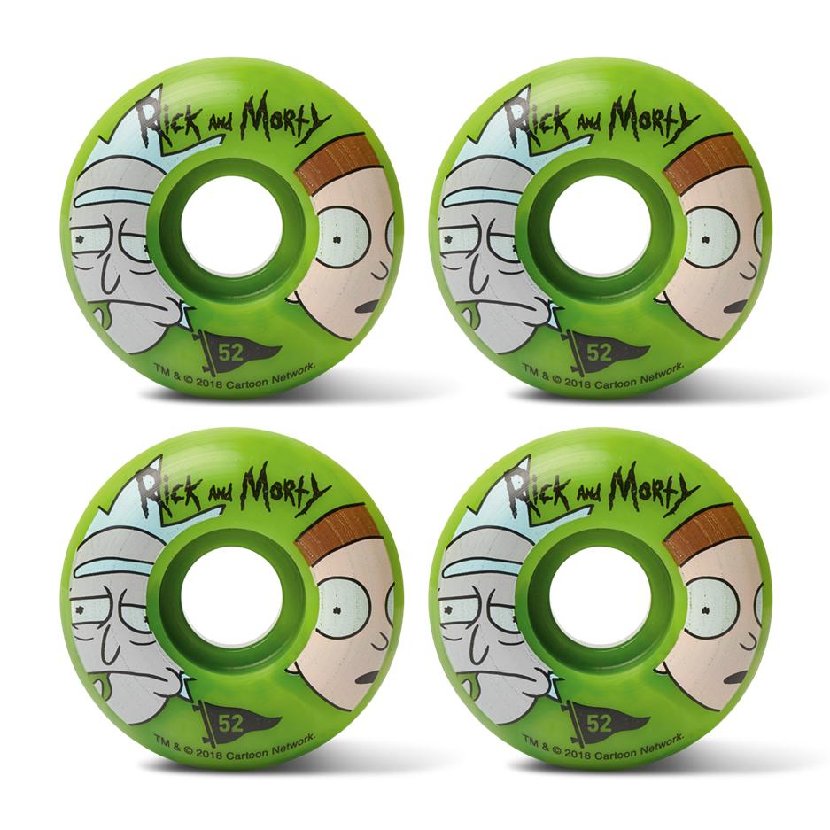 Image of PRIMITIVE RICK & MORTY 52mm SWIRL WHEELS